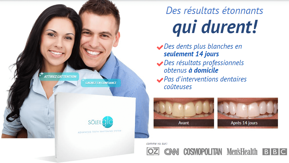 SoleilGlo - Dispositif personnel de blanchiment des dents